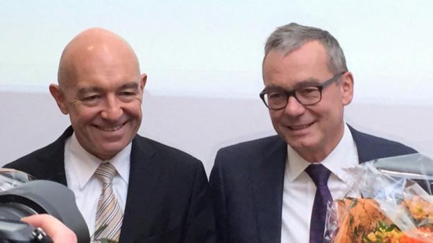 Die beiden neuen Zürcher Ständeräte Daniel Jositsch und Ruedi Noser.