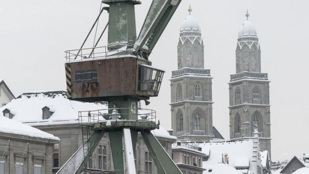 Längst Geschichte, aber nicht abgehakt: der Zürcher Hafenkran.