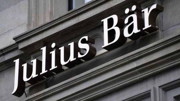 Das Logo der Bank Julius Bär, aufgenommen in der Zürcher Bahnhofstrasse