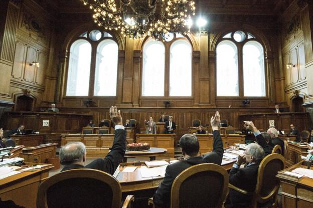 Das Sitzungszimmer des Ständerates im Bundeshaus.