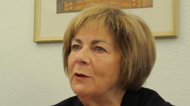 Ursula Hafner bei der Bekanntgabe ihres Rücktritts.