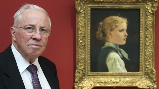 Anker- Bild von Blocher im Museum Oskar Reinhard.