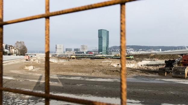 Vom künftigen Polizei- und Justizzentrum ist auf dem Areal des ehemaligen Günterbahnhofs noch nichts zu sehen.
