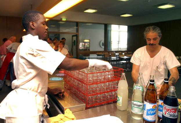 Asylbewerber bei der Arbeit