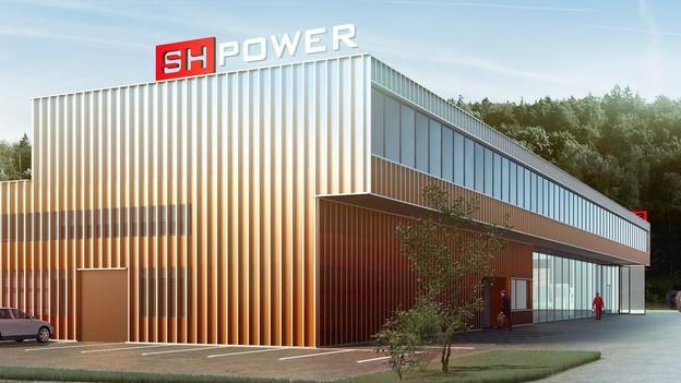 Visualisierung neuer Werkhof SH Power Schaffhausen