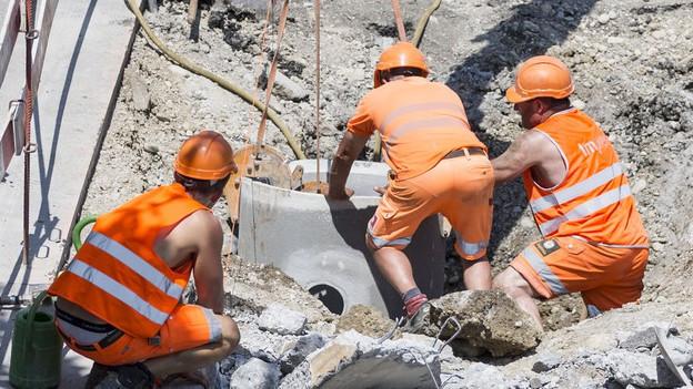 Bauarbeiter in Zürich