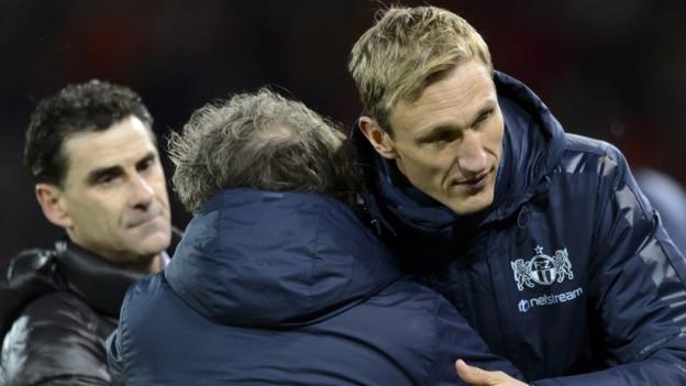 FCZ-Trainer Sami Hyypiä jubelt über den Finaleinzug.
