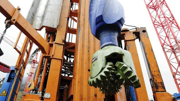 Geothermie-Bohrungen am Triemli 2009