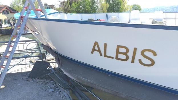 Die «MS Albis» wurde bei dem Unfall schwer beschädigt.