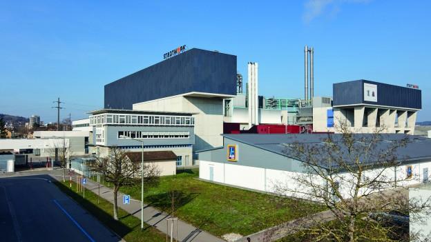 Hochbetrieb in der Kehrichtverwertungsanlage in Winterthur.
