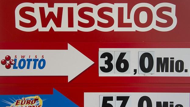 Lotto-Aushang am Kiosk