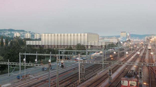 Das geplante ZSC-Stadion beim Bahnhof Altstetten