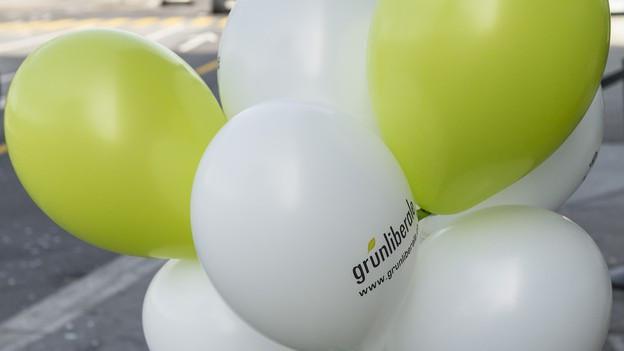 Werbeballons der GLP