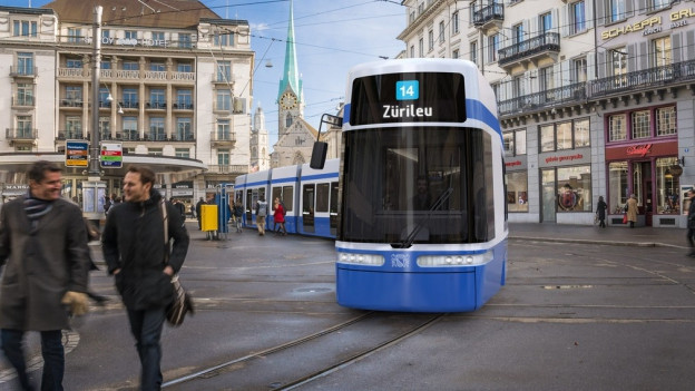 Ein Tram der neuen VBZ-Flotte.