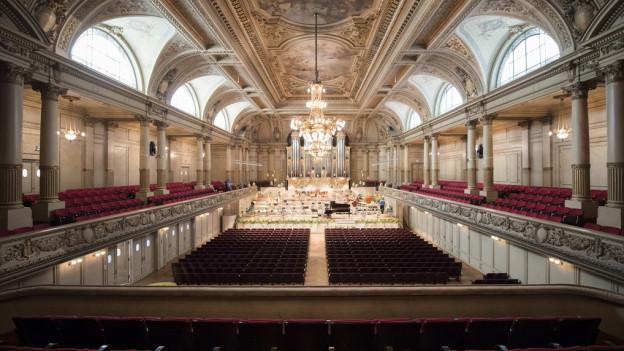 Der Konzertsaal der Tonhalle Zürich