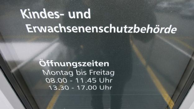 KESB-Aufschrift.
