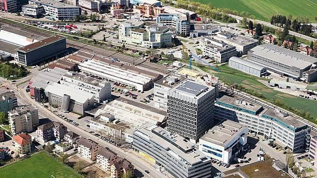 Umnutzung geglückt: Auf dem Wagi-Areal in Schlieren wurden früher Bahnwaggons produziert, heute wird geforscht.