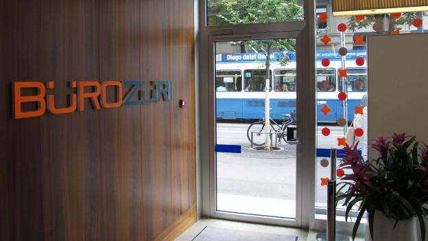 Das Büro Züri an der Bahnhofstrasse