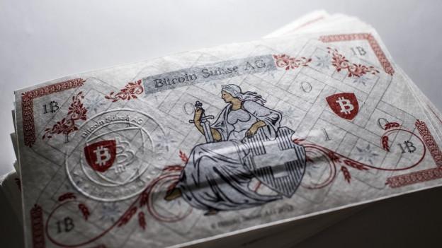 Ein Muster der digitalen Währung Bitcoin