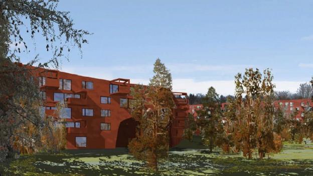 Visualisierung der Überbauung «Ringling» in Zürich-Höngg
