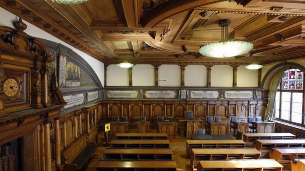 Saal des Schaffhauser Kantonsparlaments