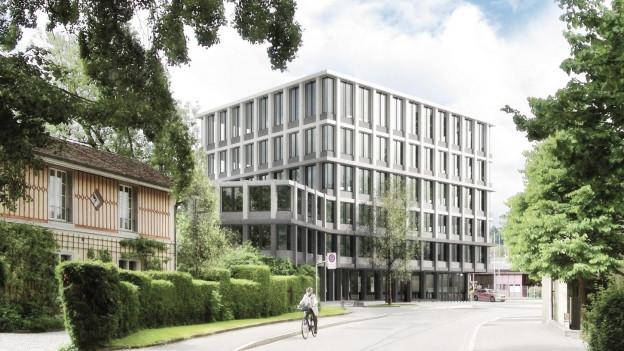 Ein Architekturmodell eines neuen Gebäudes.