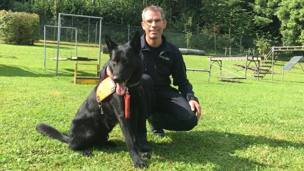 Polizeihund Zico im Dienst