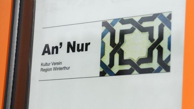 Tafel an der Türe: An' Nur, Kultur Verein