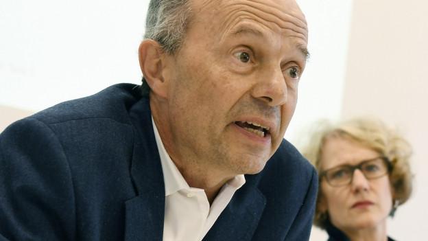 Stadtrat Richard Wolff und Stadtpräsidentin Corine Mauch