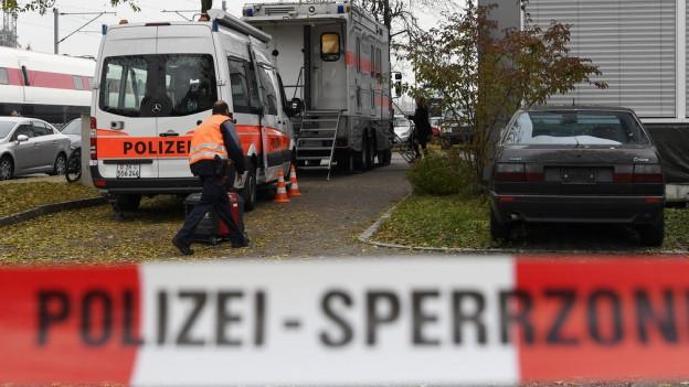 Polizeieinsatz bei der An'Nur Moschee in Winterthur