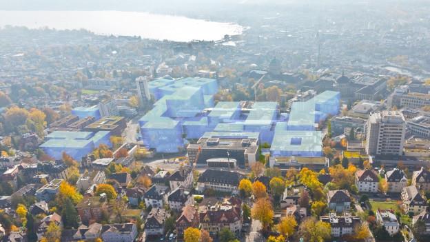 Etwas kleiner, etwas weniger hoch. Die neuen Pläne für das Zürcher Hochschulquartier.