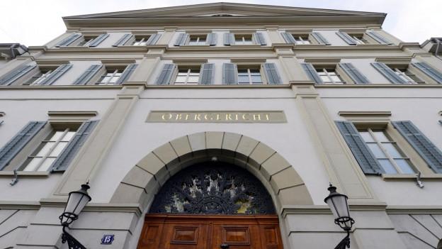 Der Haupteingang des Zürcher Obergerichts.