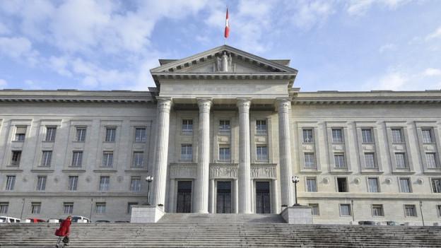 Das Bundesgericht in Lausanne von aussen betrachtet