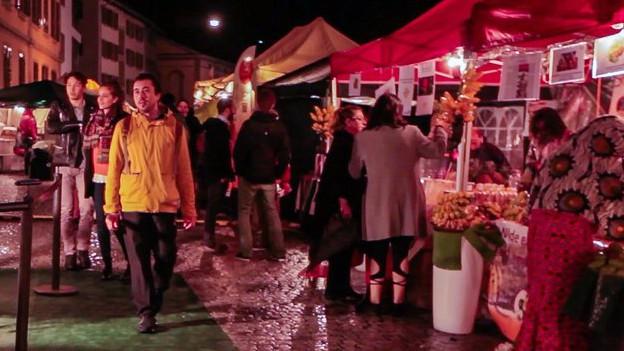 Markt in der Winterthurer Innenstadt