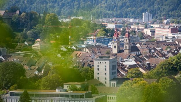 Die Stadt Winterthur von oben.