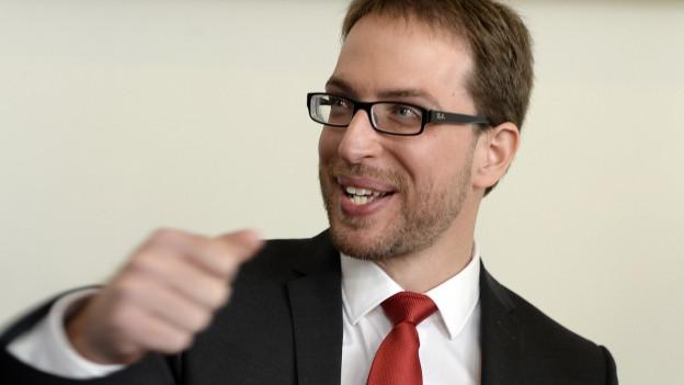Portrait von Daniel Frei, Präsident der SP Zürich.