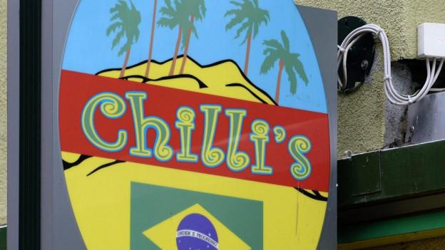 """Schild """"Chilli's"""""""