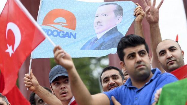 Unterstützer von Präsident Erdogan
