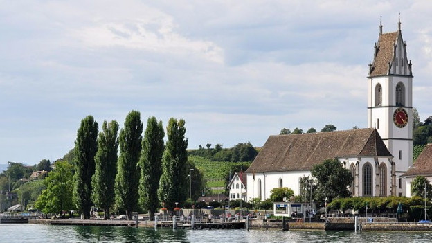 Die reformierte Kirche von Meilen.
