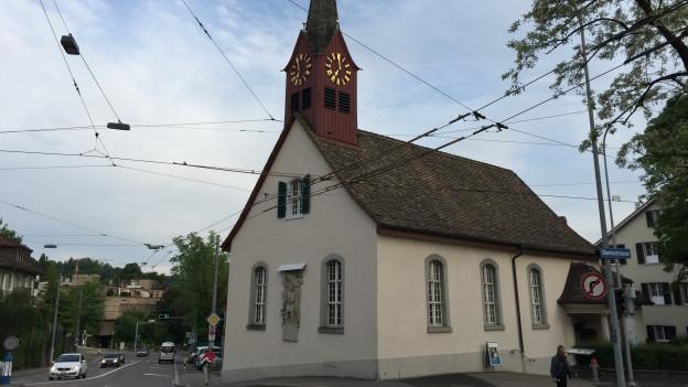 Gotteshaus mit eigener Tramhaltestelle: die Kirche Fluntern.