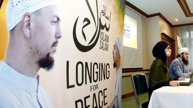 Eine Medienkonferenz des Islamischen Zentralrates.
