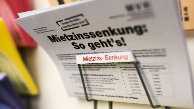 Bildlegende: Nicht nur der Mieterverband fordert zum Handeln auf, sondern auch die Stadt Zürich.