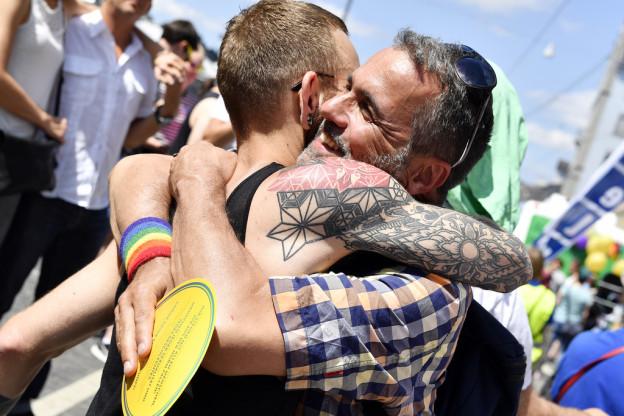 Pride-Teilnehmer in Zürich