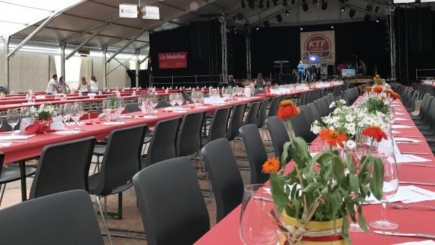 Die Vorbereitungen liefen reibungslos: Rikon ist startklar für das Zürcher Kantonalturnfest.