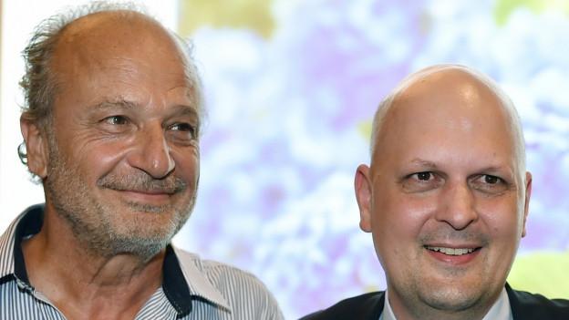 Portrait von Filippo Leutenegger und Michael Baumer.