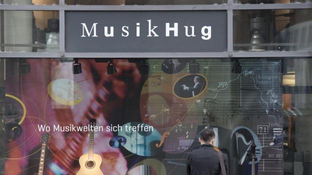 Filiale von Musik Hug in Zürich