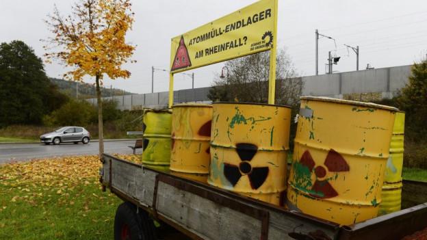 Protest gegen Atomendlager Benken.