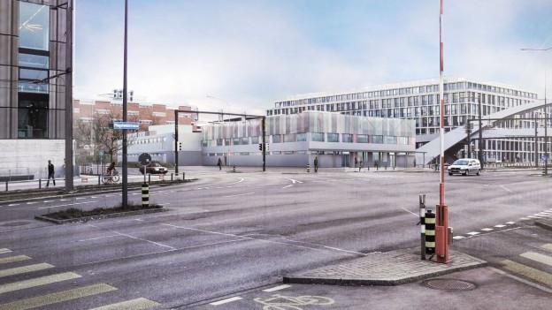 Visualisierung des geplanten Gebäudes