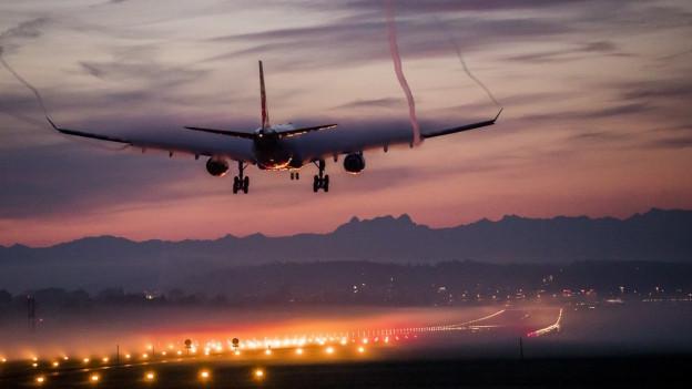 Landebahn Flughafen Zürich