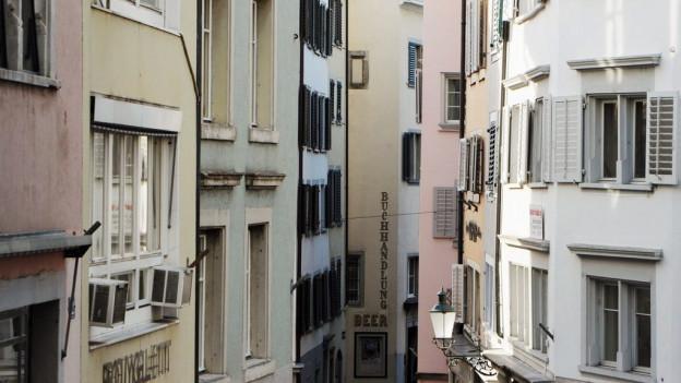 Wohnungen in der Zürcher Innenstadt.